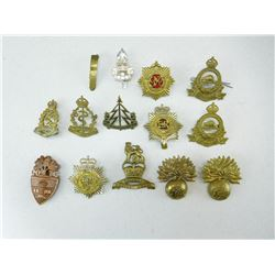 ASSORTED CANADIAN CORPS HAT BADGES