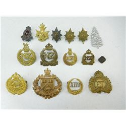 ASSORTED NEW ZEALAND & AUSTRALIAN CAP/ COLLAR BADGES
