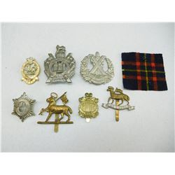 ASSORTED BRITISH & CANADIAN CAP/COLLAR BADGES