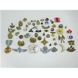 ASSORTED MILITARY PINS AND BADGES