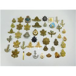 ASSORTED BRITISH & CANADIAN CAP/COLLAR BADGES & PINS
