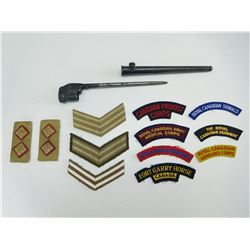 SOCKET BAYONET & MILITARY BADGES