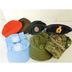 ASSORTED CANADIAN/ UN HATS