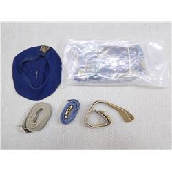 ASSORTED MILITARY UNIFORM PIECES