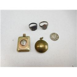 ASSORTED LOCKETS & RINGS