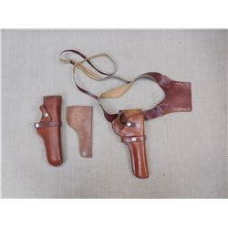 ASSORTED BROWN HOLSTERS