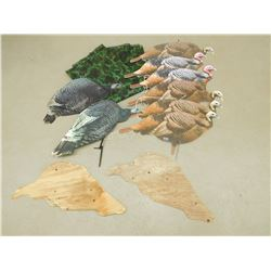 ASSORTED TURKEY DECOYS & CAMO MESH