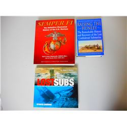 ASSORTED SUBMARINE & U.S. MARINE BOOKS