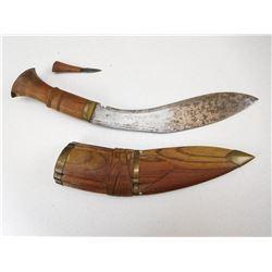 GURHKA STYLE  KNIFE SET WITH SCABBARD