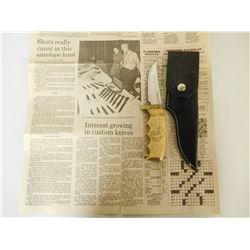 WALTER STOCKDALE FIXED BLADE KNIFE