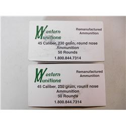 WESTERN MUNITIONS 45 CAL AMMO