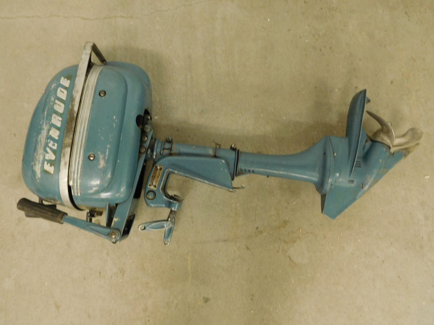 Antique Evinrude Johnson Lightwin 3 Hp Outboard Motor