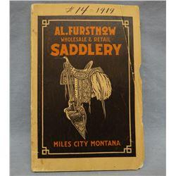 1919 Al Furstnow Saddlery Catalog, 2 Al Furstnow saddle bag tags  & King's Saddlery Catalog