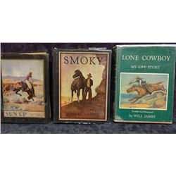3 books: James, Will, SUN UP, SMOKY and LONE COWBOY, all illus. editions
