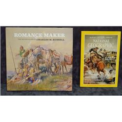 Stewart, Rick, THE ROMANCE MAKER, THE WATER COLORS OF CHARLES M. RUSSELL, 1st, dj and NATIONAL GEOGR