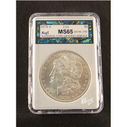 1878 S Morgan dollar, MS 65, NCGS