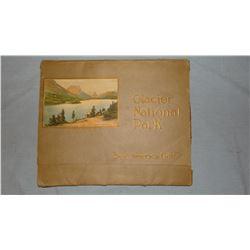 Glacier National Park vintage photo folder, 12 prints and Vintage photo of  Old Faithful, Yellowston