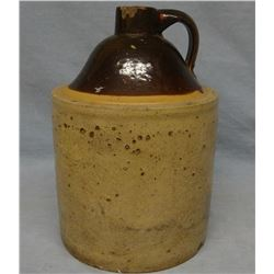 North Star 1 gal brown top jug, bottom marked, few chips & RW 1 gal jug, older, bottom marked, repai