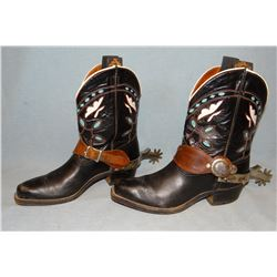 Ladies' boots and set of spurs