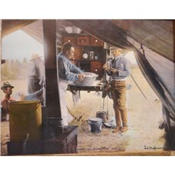 3 L. A. Huffman framed prints: Man on Hill and Wife; and Cheyenne Brave Wolf and Wife,  LU Bar Cook