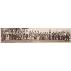 "Vintage original photo, Polson, MT Cowboy Band, 1918, 3"" h x 14"", framed,"