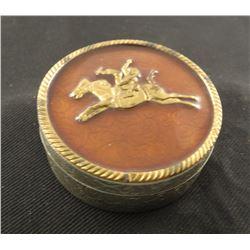 Fancy Copenhagen tin,  engraved German silver