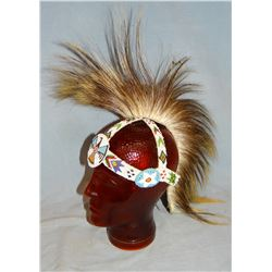 Sioux porcupine hair roach head dress