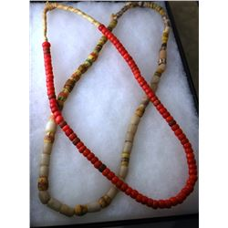 2 strands of Indian trade beads, in case