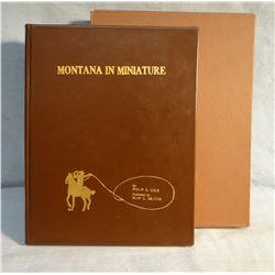 Cole, Phillip, Montana In Miniaturebook,1966, illus. by OC Seltzer,  ltd. edition book