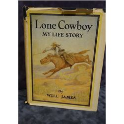 James, Will, Lone Cowboy, Illus. Ed., 1946, Scribner, dj