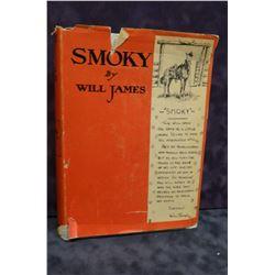 James, Will, Smoky, 1926, not 1st, gray/white cloth, book fine, dj, rough