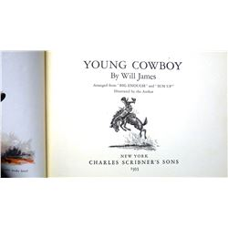 James, Will, Young Cowboy, 1st, 1935, Scribner's A, near fine, no dj