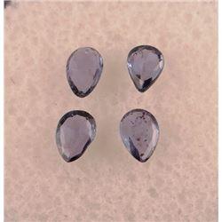 4 Yogo Sapphries, .70 ct tw/4.5 x 3.2 mm each