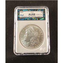 1888 P Morgan dollar, AU 58, NCGS