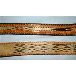 2 Deer Lodge Prison made hitched horsehair belts