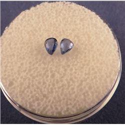 2 Yogo Sapphires, .36 ct tw/4.5 x 3.2 mm each