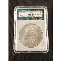 1901 O Morgan dollar, MS 64, NCGS