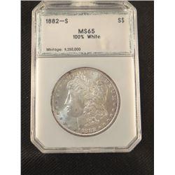 1882 S  Morgan dollar, MS 65, NCGS