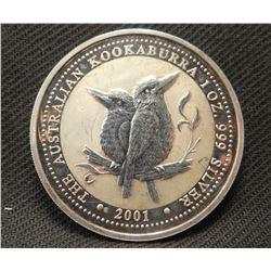 Australian Silver 1 oz. Kookoobura, .99 pure silver