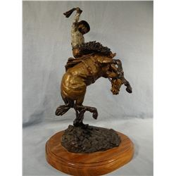 "Contway, Jay,  bronze, Wyoming Centennial 1990, 15""x 9"", artist proof"