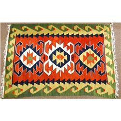 "Native American weaving, 45"" x 66"""