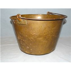 Brass water pail, Indian trade pail, ca 1800's