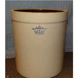 Crown 4 gal. salt glaze crock, mint