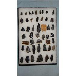 Columbia River gem points, scrapers, found near Harney, Oregon, 47 pcs.