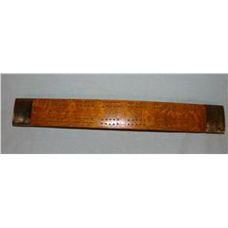 Whiskey barrel stave cribbage board