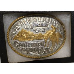 MT Centennial buckle; sterling silver ranger buckle and ladies' belt buckle