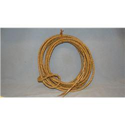 Rawhide riata, 36' & Bull whip, 8'