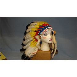 Beaded head dress