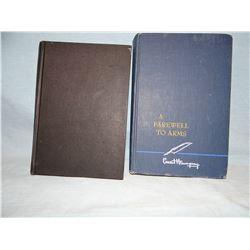 Huntington, Bill, Good Men & Salty Cusses, 1st, 1952, signed, good; and Hemingway, Earnest, A Farewe