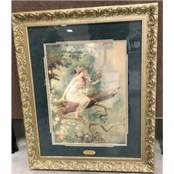 """Russell, C. M. framed print, Wood Nymph, 18"""" x 24"""""""